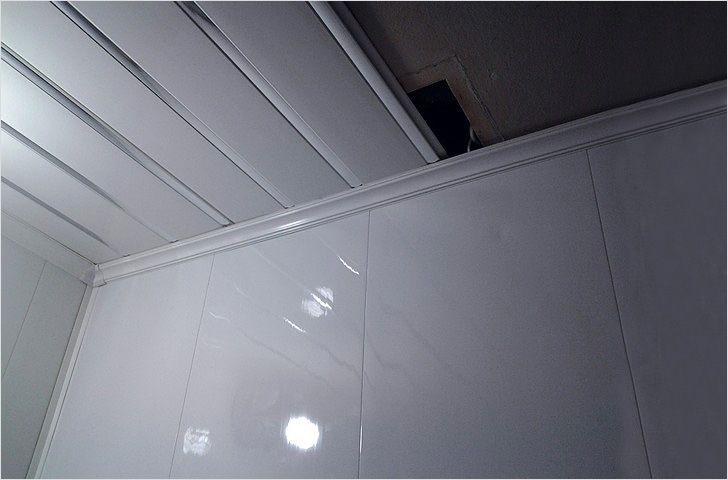 Панели для потолка в ванной своими руками