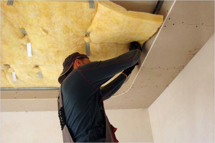 Как сделать шумоизоляцию потолка своими руками