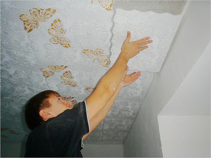 Оформление потолка своими руками фото