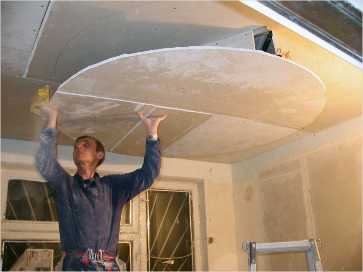 Видео гипсокартонные потолки своими руками