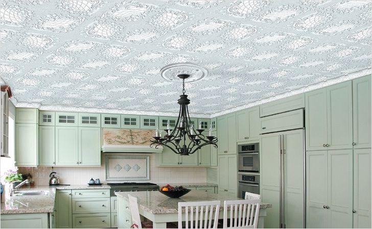 Оригинальный потолок на кухне своими руками
