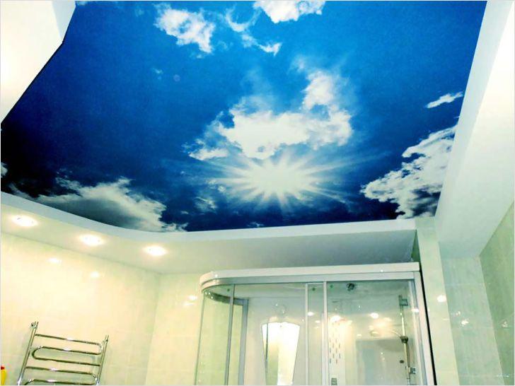 Как сделать натяжной потолок для ванной