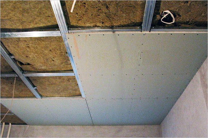 Потолок в частном доме из гипсокартона своими руками