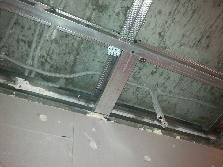 Как сделать проводку под гипсокартоном на потолке