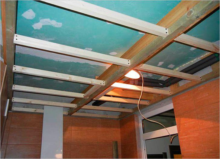 Как сделать обрешетку для потолка из профиля 160