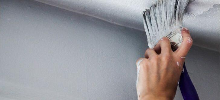 Чем покрасить потолок в ванной